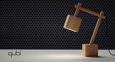 personal project Qubi desk lamp by Kresimir Jelusic, via Behance