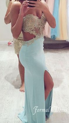 Amazing Backless Chiffon Lace Long Prom Dresses, Formal Dress #prom 2015 #prom #prom dress # long prom dress #prom dresses 2015 #dress #dresses