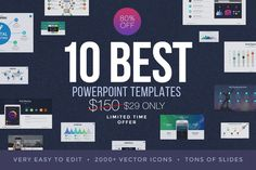 Best PowerPoint Template Bundle by SlidePro on @creativemarket
