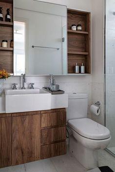 Most beutiful Photos Decoration Gallery and Ideas Bathroom Renos, White Bathroom, Bathroom Renovations, Bad Inspiration, Bathroom Inspiration, Bathroom Design Small, Bathroom Interior Design, White Sink, Small Apartments
