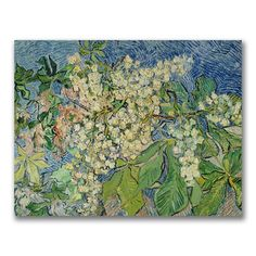 @Overstock - Artist: Vincent van Gogh  Title: Blossoming Chesnut Branches  Product Type: Gallery-wrapped canvas arthttp://www.overstock.com/Home-Garden/Vincent-Van-Gogh-Blossoming-Chesnut-Branches-Canvas-Art/7668488/product.html?CID=214117 $59.99