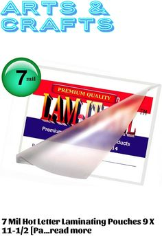 7 Mil Hot Letter Laminating Pouches 9 X 11-1/2 [Pack of 100] by LAM-IT-ALL … (This is an affiliate link) #craftsupplies