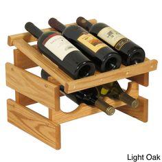 Find for Dakota 6 Bottle Tabletop Wine Rack By Wooden Mallet Wine Bottle Rack, Wine Glass Rack, Wood Wine Racks, Bottle Wall, Bottle Holders, Wine Bottles, Wine Decanter, Glass Bottles, Tabletop