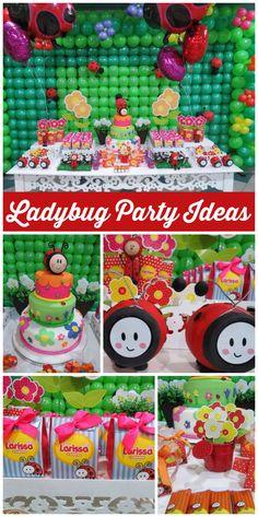 Ladybugs Spring Garden Birthday Gabriellas Spring Garden 1st
