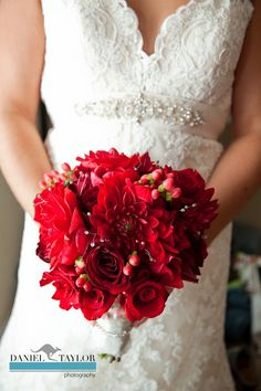 Stunning red bouquet (Daniel Taylor Photography)