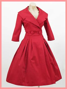 Trashy Diva Red New Look Courtney Coat Dress - Love this, but who has those measurements?!?!