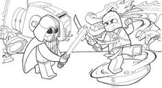 Lego Star Wars Coloring Pages For Kids Printable