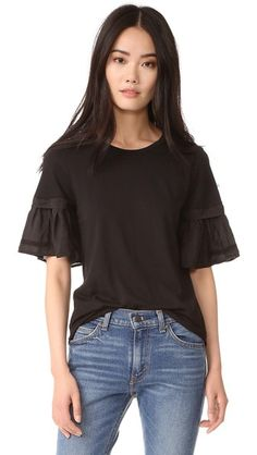 Clu Mix Media Top with Embroidery