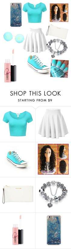 """""""Untitled #47"""" by pinkypie3 ❤ liked on Polyvore featuring J.TOMSON, Converse, MICHAEL Michael Kors, MAC Cosmetics and Victoria Beckham"""