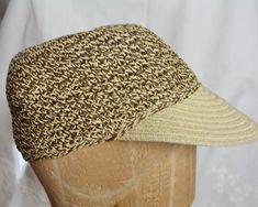 b6472ef9a38 Straw Baseball Cap Hat Denver Hayes Crocheted Summer Trucker Hat Sun Visor