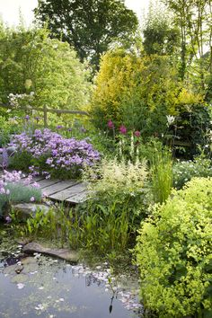This tiny garden has been cleverly designed to be big in colour and impact Pond Landscaping, Ponds Backyard, Garden Ponds, Koi Ponds, Garden Landscape Design, Small Garden Design, Patio Design, Small Gardens, Outdoor Gardens
