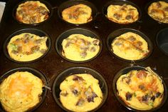 low carb, belly fat cure  egg cups  a fast easy breakfast!