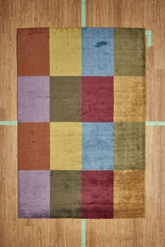 """5' 3"""" x 7' 7"""" Multicolored Patchwork Hand Loom Man-Made Area Rug Modern"""