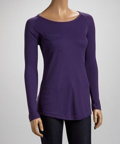 Take a look at this Purple Penny Pocket Raglan Top by Casalee on #zulily today!http://www.zulily.com/invite/wrustman270