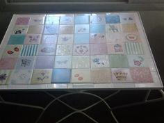 Mesa mosaico pintado a mano