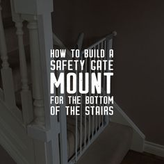 Baby gate management. This mount will mean that you will not need to drill holes in your wall or leave marks on wall paper or paint as the mount will take all of the pressure rather than the banister or the wall. #babygate #babyproofing #houseprojects