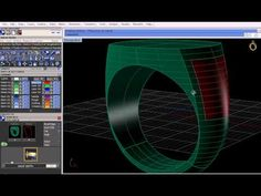 A short video on using signet ring builder, surface pullback and boolean intersection in Gemvision's Matrix