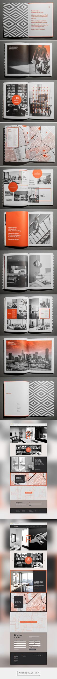 banking layout The House on Behance. - a grouped images picture - Pin Them All Booklet Design, Book Design Layout, Print Layout, Editorial Design, Editorial Layout, Graphic Design Branding, Corporate Design, Typography Design, Web Design