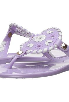 Jack Rogers Little Miss Georgica Jelly (Toddler/Little Kid) (Lilac/White) Women's Sandals - Jack Rogers, Little Miss Georgica Jelly (Toddler/Little Kid), 1217SC0004-532, Footwear Open Casual Sandal, Casual Sandal, Open Footwear, Footwear, Shoes, Gift, - Fashion Ideas To Inspire