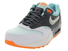 Nike Women Air Max 1 Prm Running ShoeWhiteMtllc SlvrDrk GryGlcr9 B M US * Want additional info? Click on the affiliate link Amazon.com on image.