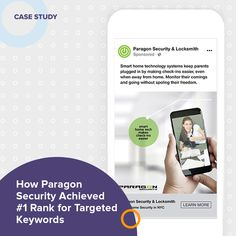 """🔎 OpenMoves worked with Paragon Security to understand the full scope of the Paragon business and build a website that covered a wide range of products and services. This enabled Paragon to rank and convert customers for much more than just """"locksmith"""" queries. 📍 For local listings, OpenMoves deployed an aggressive management program for Paragon, including a combination of Yext, MozLocal, BrightLocal, and manual listings management strategies. A careful review of NAP consistency helped… Social Media Marketing, Digital Marketing, Web Design Firm, Local Listings, Search Ads, Smart Home Technology, Seo Strategy, Local Seo, Building A Website"""