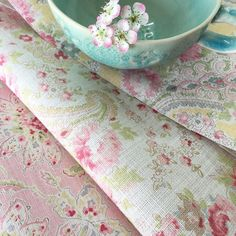 love Sarah Hardaker faded floral fabric and linen. Click through to discover more faded floral fabric designs you'll love