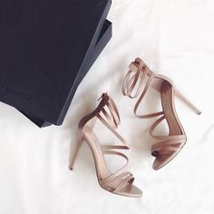 Nude heels go with any outfit.