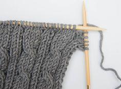kissen stricken mit zopfmuster Anleitung: Kissen stricken mit Zopfmuster