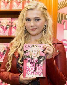 Celebrities In Leather: Abigail Breslin wears a red leather jacket