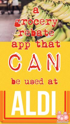 Finally!  A grocery rebate app that allows you to get cash back on your Aldi purchases... and much more!
