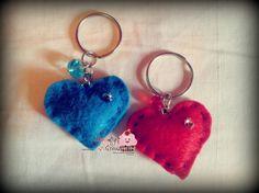 Felt Heart Keyring various colors by MoonlightCreazioni on Etsy, €3.20