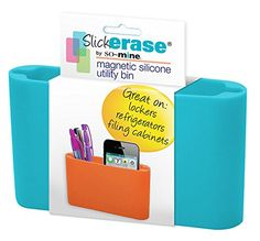 So-Mine Slick Erase Magnetic Silicone Utility Bin, Turquoise, SO-0572 So-Mine LLC http://www.amazon.com/dp/B00NAFALQ0/ref=cm_sw_r_pi_dp_Cwtlwb18BGGW2