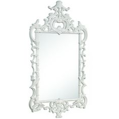 Mirror Image Chippendale Mirror With White Lacquer Finish ($966) ❤ liked on Polyvore featuring home, home decor, mirrors, mirror image home, white home accessories, white lacquer mirror, chippendale mirror et lacquer mirror