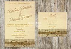 Printable Custom Rustic Wedding Invitation