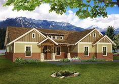 4 BedCraftsman House Plan with Open Floor Plan - 68410VR thumb - 01