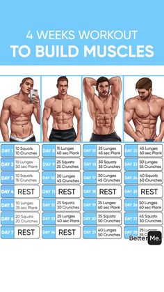 Build Big and Powerful Muscles with the Ultimate Muscle Stack that consists of 4 Legal Steroids for Gaining Maximum Muscle Mass without Side Effect, build muscle, muscle building workout Gym Workout Chart, Full Body Workout Routine, Gym Workout Videos, Abs Workout Routines, Gym Workout For Beginners, Ab Workout Men, Workout Quotes, Strength Workout, Wöchentliches Training