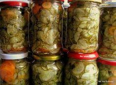 Smaczna Pyza: Sałatka szwedzka Preserves, Pickles, Cucumber, Mason Jars, Food And Drink, Cooking Recipes, Canning, Vegetables, Places