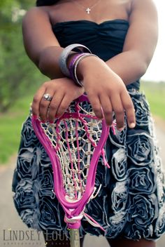 Love the athlete-girly girl contrast in this one... and she's a lacrosse player!