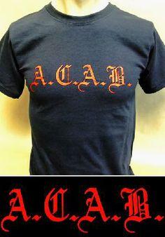Camiseta - A.C.A.B. -  12,90 euros. Pedidos y +600 modelos: www.barrio-obrero.com  -PUNK & SKINHEAD MAILORDER- We serve orders to all countries.