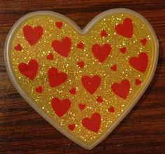 Rare HALLMARK BARRETTE Sparkle HEART Valentines Day by itsadeal