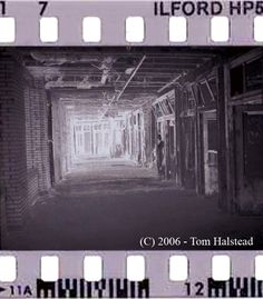 Film negative of ghost photo from haunted Waverly Hills Sanatorium.