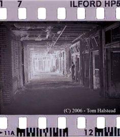 Film negative of ghost photo from haunted Waverly Hills Sanatorium.