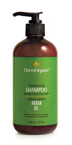 DermOrganic Sulfate-Free Conditioning Shampoo with Argan Oil - From Hair /Shampoo/Dry & Damaged Collection Organic Shampoo, Natural Shampoo, Natural Hair Care, Natural Hair Styles, Sls Free Shampoo, Sulfate Free Shampoo, Conditioning Shampoo, Conditioner, Natural Preservatives