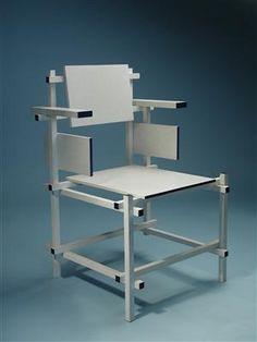Armchair Designed by Gerrit Rietveld for Gerard van de Groenekan, Holland. 1918. This example post war. Branded H.G.M. G.A. van de Groeneken de Bilt Nederland. @Deidré Wallace