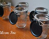 Chalkboard tops for table numbers, place settings, buffet labels or food.