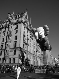 KAWS 'Companion' Float Flies in The Macy's Thanksgiving Day Parade