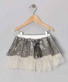 Love this Silver Sequin Tutu - Infant, Toddler & Girls on #zulily! #zulilyfinds