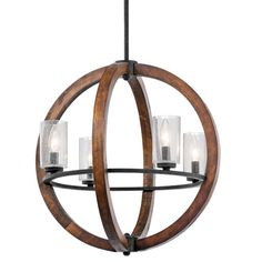 Kichler 43185AUB, Chandelier/Pendant 4Lt, Grand Bank, Auburn Stained Finish