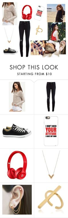 """""""Untitled #1014"""" by gracenerada ❤ liked on Polyvore featuring 360cashmere, Brixton, Closed, Converse, Casetify, Beats by Dr. Dre, Louis Vuitton, Embers Gemstone Jewellery and Schield Collection"""