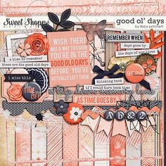 Good Ol Days by Libby Pritchett, part of the September 2014 Scrap Pack at Scrap Stacks.  http:/scrapstacks.com/scrappack